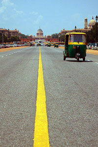 A view up Rajpath towards what was the Viceroy's House, now the Presidents Palace.