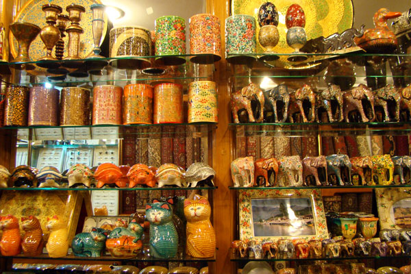 Traditionelle Handwerkskunst Einkaufen In Jaipur