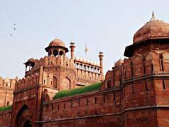 Red fort-side view