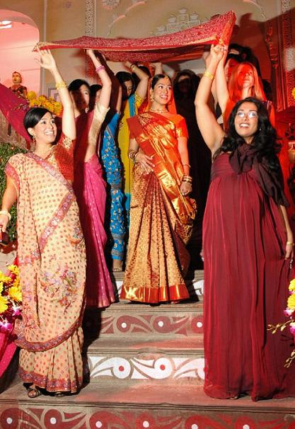indische Hochzeit der weißen Frau